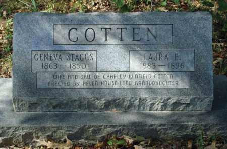 COTTEN, LAURA E. - Saline County, Arkansas | LAURA E. COTTEN - Arkansas Gravestone Photos