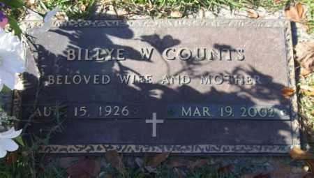 COUNTS, BILLYE W. - Saline County, Arkansas | BILLYE W. COUNTS - Arkansas Gravestone Photos