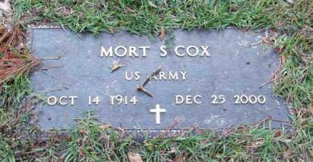 COX (VETERAN), MORT S - Saline County, Arkansas | MORT S COX (VETERAN) - Arkansas Gravestone Photos