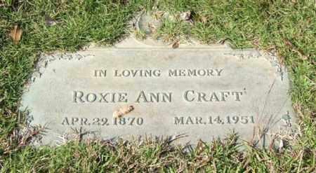 CRAFT, ROXIE ANN - Saline County, Arkansas | ROXIE ANN CRAFT - Arkansas Gravestone Photos
