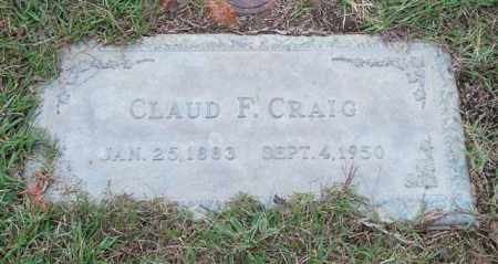 CRAIG, CLAUD F. - Saline County, Arkansas | CLAUD F. CRAIG - Arkansas Gravestone Photos