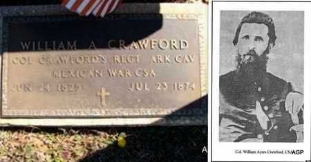 CRAWFORD (VETERAN 2 WARS), WILLIAM AYERS - Saline County, Arkansas | WILLIAM AYERS CRAWFORD (VETERAN 2 WARS) - Arkansas Gravestone Photos