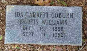 CURTIS, COBURN, WILLIAMS, IDA - Saline County, Arkansas | IDA CURTIS, COBURN, WILLIAMS - Arkansas Gravestone Photos