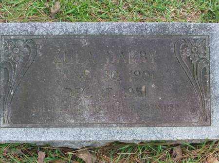 DARBY, ZULA - Saline County, Arkansas | ZULA DARBY - Arkansas Gravestone Photos