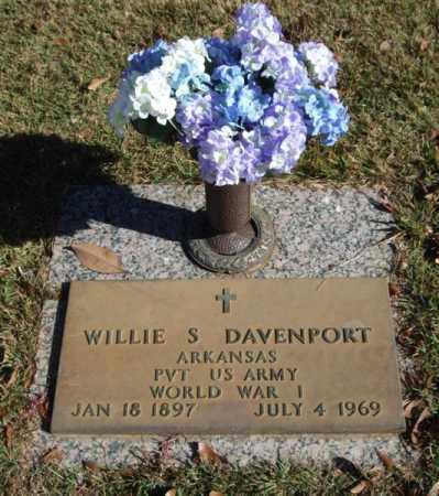 DAVENPORT (VETERAN WWI), WILLIE S - Saline County, Arkansas | WILLIE S DAVENPORT (VETERAN WWI) - Arkansas Gravestone Photos