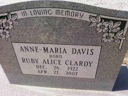 DAVIS, ANNE-MARIA - Saline County, Arkansas | ANNE-MARIA DAVIS - Arkansas Gravestone Photos