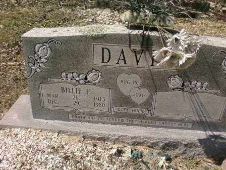 DAVIS, BILLIE - Saline County, Arkansas | BILLIE DAVIS - Arkansas Gravestone Photos