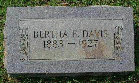 DAVIS, BERTHA F - Saline County, Arkansas | BERTHA F DAVIS - Arkansas Gravestone Photos