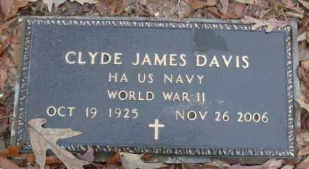 DAVIS (VETERAN WWII), CLYDE JAMES - Saline County, Arkansas | CLYDE JAMES DAVIS (VETERAN WWII) - Arkansas Gravestone Photos