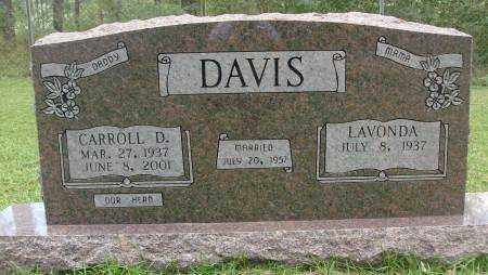 DAVIS, CARROLL D. - Saline County, Arkansas | CARROLL D. DAVIS - Arkansas Gravestone Photos