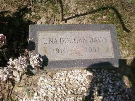 DAVIS, UNA - Saline County, Arkansas | UNA DAVIS - Arkansas Gravestone Photos