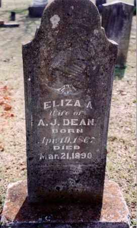 DEAN, ELIZA A - Saline County, Arkansas | ELIZA A DEAN - Arkansas Gravestone Photos