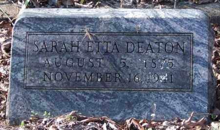 DEATON, SARAH ETTA - Saline County, Arkansas | SARAH ETTA DEATON - Arkansas Gravestone Photos