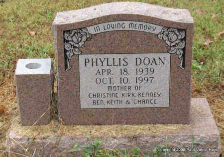 DOAN, PHYLLIS - Saline County, Arkansas | PHYLLIS DOAN - Arkansas Gravestone Photos