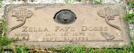 CALDWELL DOBBS, ZELLA FAYE - Saline County, Arkansas | ZELLA FAYE CALDWELL DOBBS - Arkansas Gravestone Photos