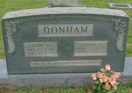 DONHAM, EMMA S - Saline County, Arkansas | EMMA S DONHAM - Arkansas Gravestone Photos