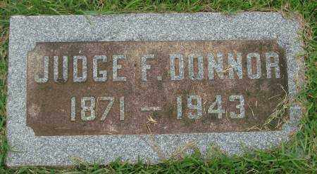 DONNOR, JUDGE F. - Saline County, Arkansas | JUDGE F. DONNOR - Arkansas Gravestone Photos