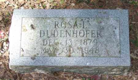 DUDENHOFER, ROSA L. - Saline County, Arkansas | ROSA L. DUDENHOFER - Arkansas Gravestone Photos
