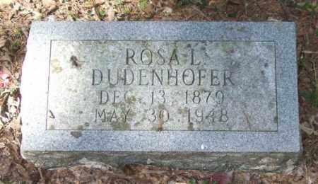 DUDENHOFER, ROSA L. - Saline County, Arkansas | ROSA L. DUDENHOFER - Arkansas Gravestone Photos