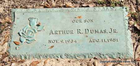 DUMAS, JR., ARTHUR R. - Saline County, Arkansas | ARTHUR R. DUMAS, JR. - Arkansas Gravestone Photos