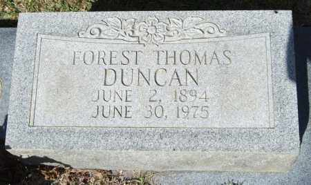 DUNCAN, FOREST THOMAS - Saline County, Arkansas | FOREST THOMAS DUNCAN - Arkansas Gravestone Photos