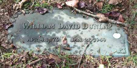 DUNLAP, WILLIAM DAVID - Saline County, Arkansas | WILLIAM DAVID DUNLAP - Arkansas Gravestone Photos