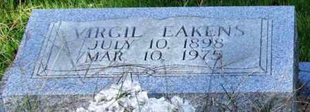 EAKENS, VIRGIL (CLOSEUP) - Saline County, Arkansas | VIRGIL (CLOSEUP) EAKENS - Arkansas Gravestone Photos