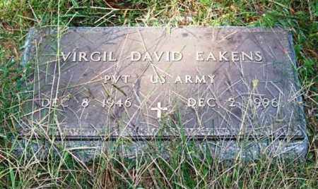 EAKENS (VETERAN), VIRGIL DAVID - Saline County, Arkansas | VIRGIL DAVID EAKENS (VETERAN) - Arkansas Gravestone Photos