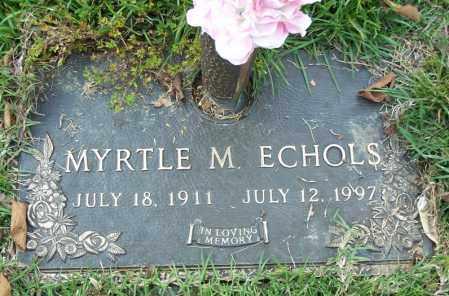 ECHOLS, MYRTLE M. - Saline County, Arkansas | MYRTLE M. ECHOLS - Arkansas Gravestone Photos