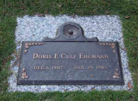 EHEMANN, DORIS E. - Saline County, Arkansas | DORIS E. EHEMANN - Arkansas Gravestone Photos