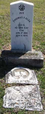 ELZA (VETERAN CSA), THOMAS S - Saline County, Arkansas | THOMAS S ELZA (VETERAN CSA) - Arkansas Gravestone Photos