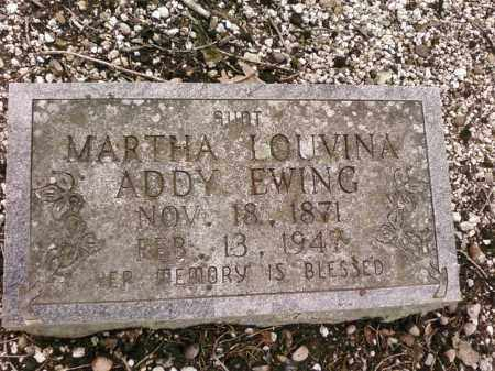 ADDY EWING, MARTHA - Saline County, Arkansas | MARTHA ADDY EWING - Arkansas Gravestone Photos