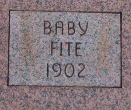 FITE, BABY - Saline County, Arkansas | BABY FITE - Arkansas Gravestone Photos