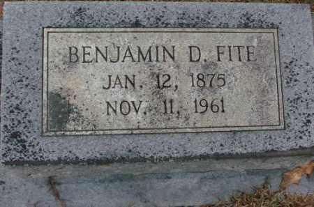 FITE, BENJAMIN D. - Saline County, Arkansas | BENJAMIN D. FITE - Arkansas Gravestone Photos
