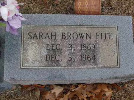 BROWN FITE, SARAH - Saline County, Arkansas | SARAH BROWN FITE - Arkansas Gravestone Photos