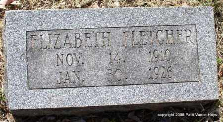 FLETCHER, ELIZABETH - Saline County, Arkansas | ELIZABETH FLETCHER - Arkansas Gravestone Photos