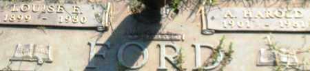 FORD, LOUISE E. (CLOSEUP) - Saline County, Arkansas | LOUISE E. (CLOSEUP) FORD - Arkansas Gravestone Photos
