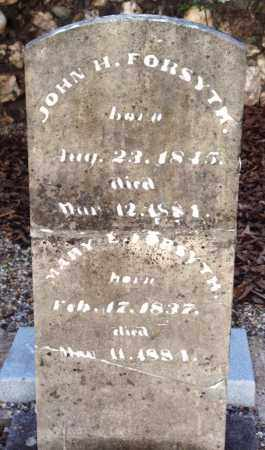FORSYTH, JOHN H - Saline County, Arkansas | JOHN H FORSYTH - Arkansas Gravestone Photos