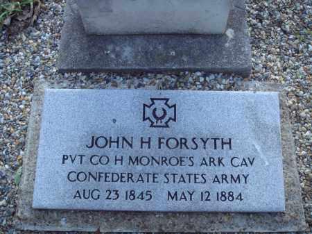FORSYTH (VETERAN CSA), JOHN H - Saline County, Arkansas | JOHN H FORSYTH (VETERAN CSA) - Arkansas Gravestone Photos
