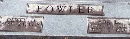 FOWLER, DEWEY D. (CLOSEUP) - Saline County, Arkansas | DEWEY D. (CLOSEUP) FOWLER - Arkansas Gravestone Photos