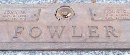 FOWLER, JOHN W. - Saline County, Arkansas | JOHN W. FOWLER - Arkansas Gravestone Photos