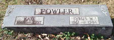 FOWLER, KATE - Saline County, Arkansas | KATE FOWLER - Arkansas Gravestone Photos