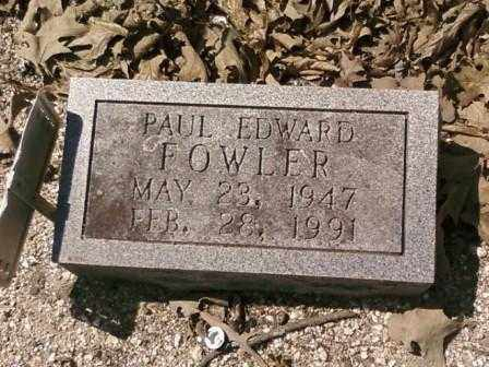 FOWLER, PAUL - Saline County, Arkansas | PAUL FOWLER - Arkansas Gravestone Photos