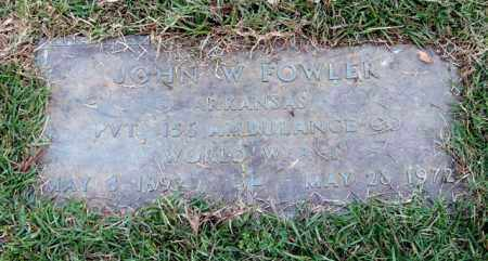 FOWLER (VETERAN WWI), JOHN W - Saline County, Arkansas | JOHN W FOWLER (VETERAN WWI) - Arkansas Gravestone Photos