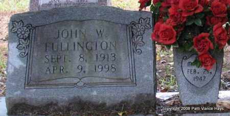FULLINGTON, JOHN W. - Saline County, Arkansas | JOHN W. FULLINGTON - Arkansas Gravestone Photos