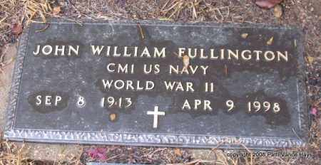 FULLINGTON (VETERAN WWII), JOHN WILLIAM - Saline County, Arkansas | JOHN WILLIAM FULLINGTON (VETERAN WWII) - Arkansas Gravestone Photos