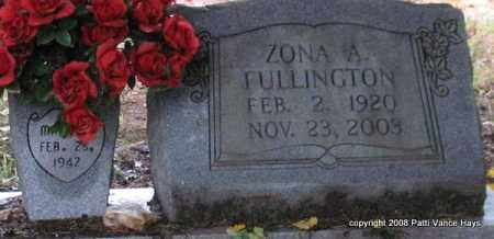 FULLINGTON, ZONA A. - Saline County, Arkansas | ZONA A. FULLINGTON - Arkansas Gravestone Photos