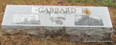 GABBARD, OTIS L. - Saline County, Arkansas | OTIS L. GABBARD - Arkansas Gravestone Photos
