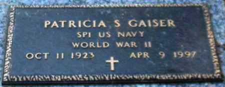 GAISER (VETERAN WWII), PATRICIA S - Saline County, Arkansas | PATRICIA S GAISER (VETERAN WWII) - Arkansas Gravestone Photos