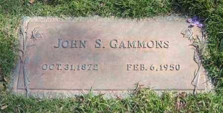 GAMMONS, JOHN S. - Saline County, Arkansas | JOHN S. GAMMONS - Arkansas Gravestone Photos